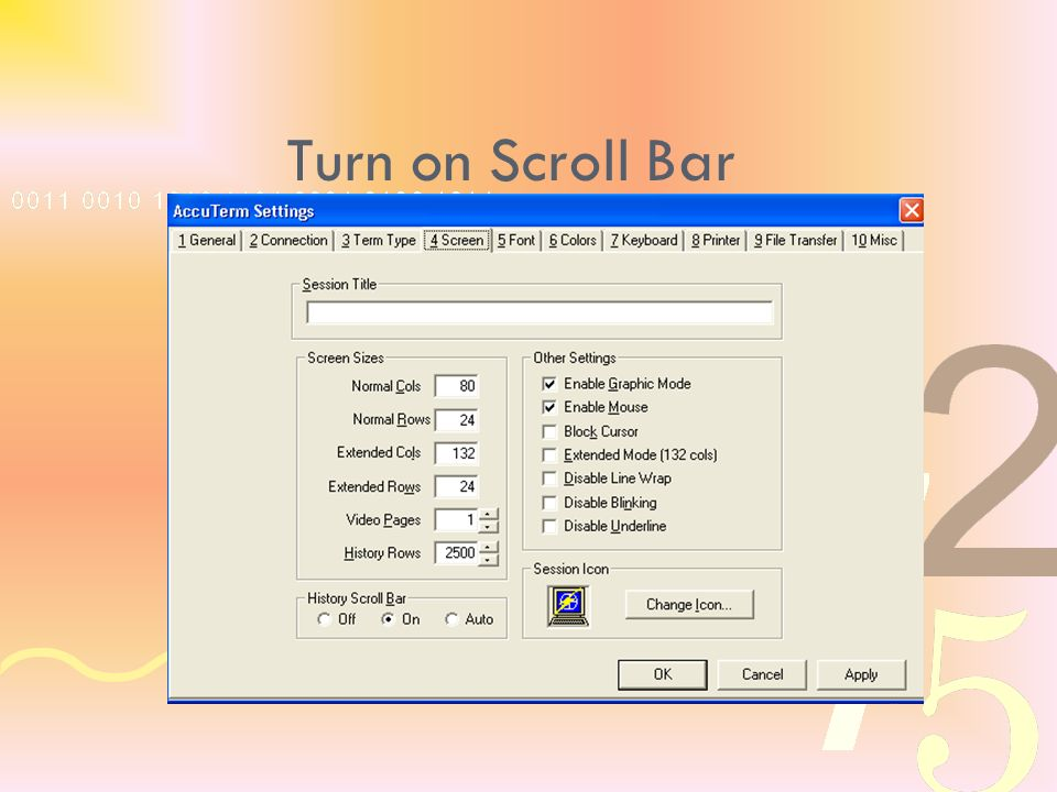 Turn on Scroll Bar