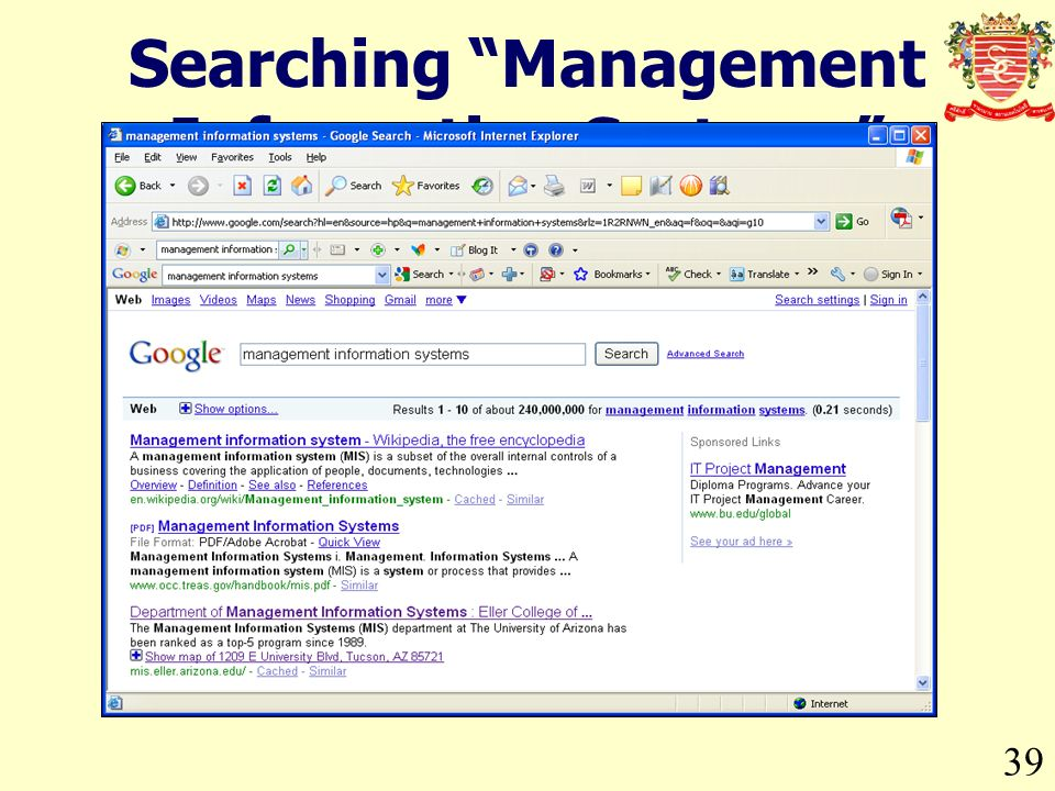 39 Searching Management Information Systems