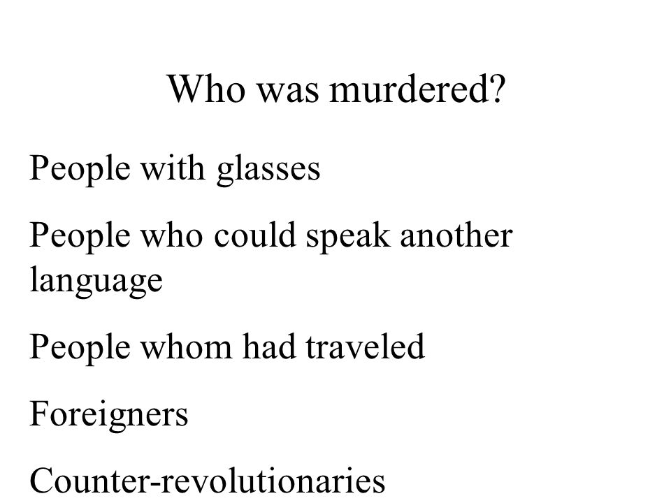 Who was murdered.