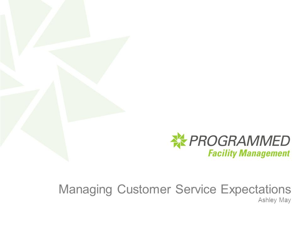 Title Heading here Managing Customer Service Expectations Ashley May