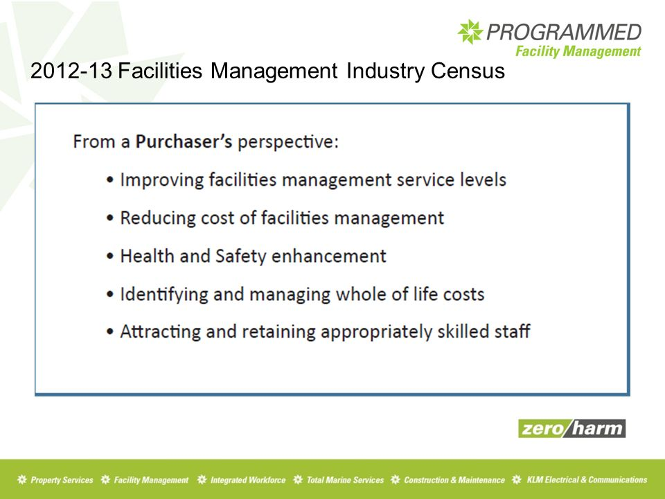 Facilities Management Industry Census