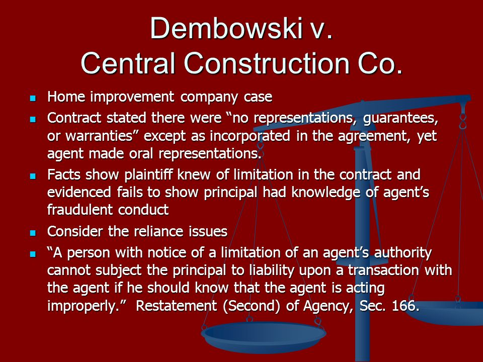 Dembowski v. Central Construction Co.