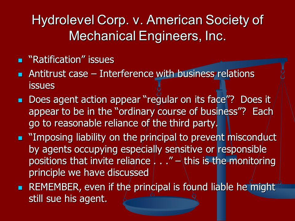 Hydrolevel Corp. v. American Society of Mechanical Engineers, Inc.