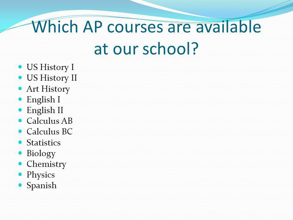 Which AP courses are available at our school.