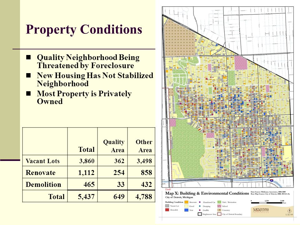15 Property Conditions Quality Neighborhood Being Threatened by Foreclosure New Housing Has Not Stabilized Neighborhood Most Property is Privately Owned Total Quality Area Other Area Vacant Lots 3,860 362 3,498 Renovate 1,112 254 858 Demolition 465 33 432 Total 5,437 649 4,788
