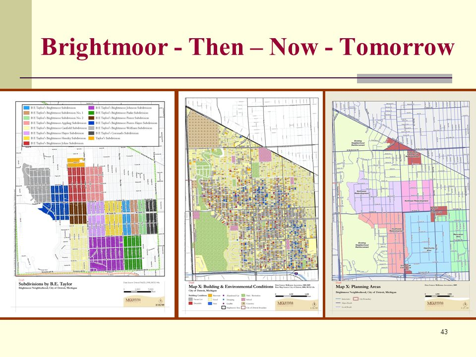 43 Brightmoor - Then – Now - Tomorrow