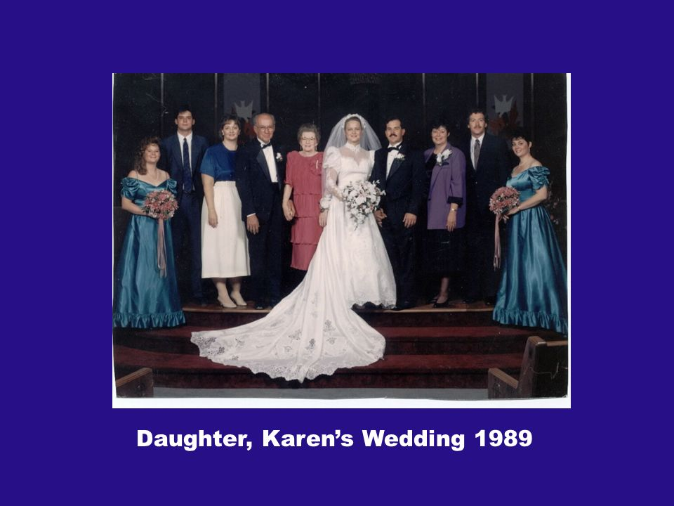 Daughter, Karens Wedding 1989