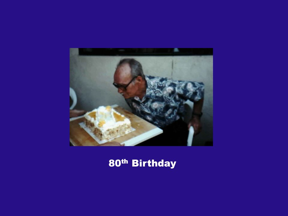 80 th Birthday