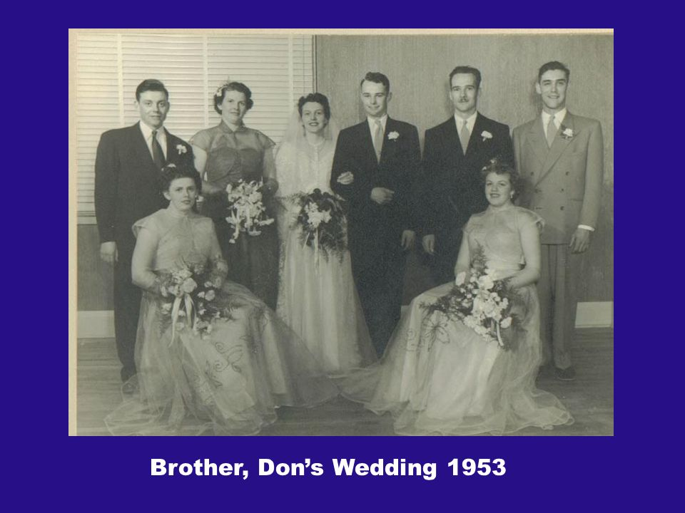 Brother, Dons Wedding 1953