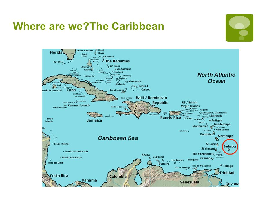 Where are we The Caribbean