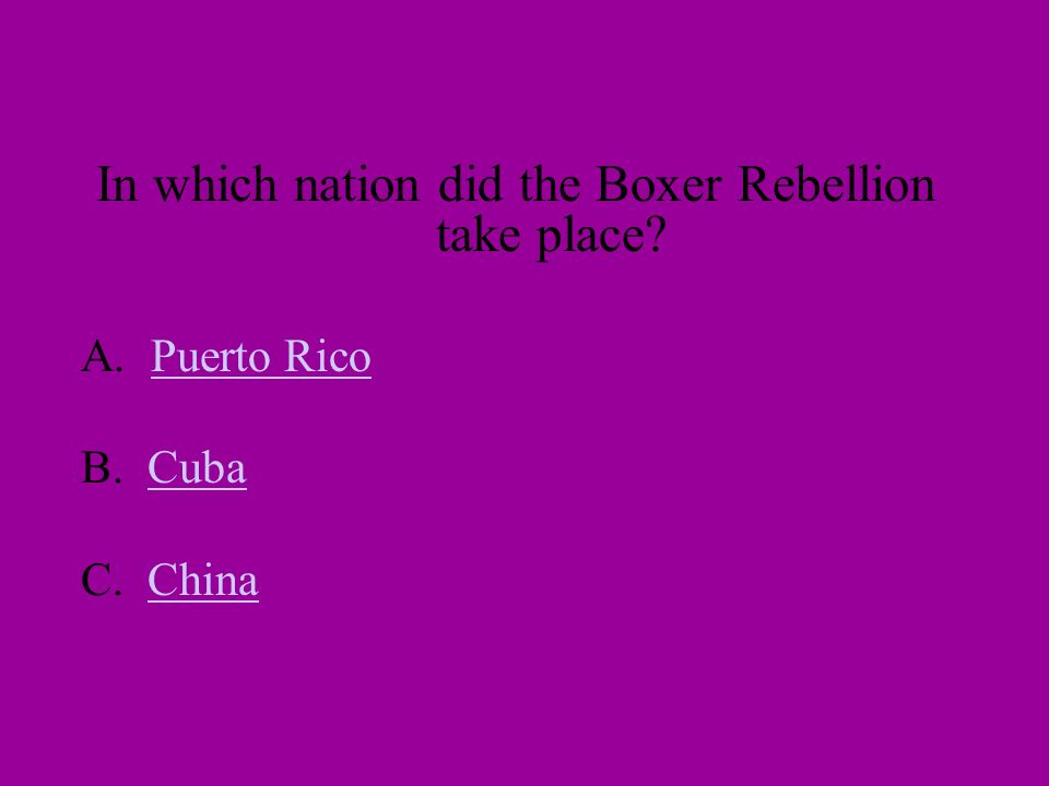 SPANISH AMERICAN WAR REVIEW…. Answer right and win a prize