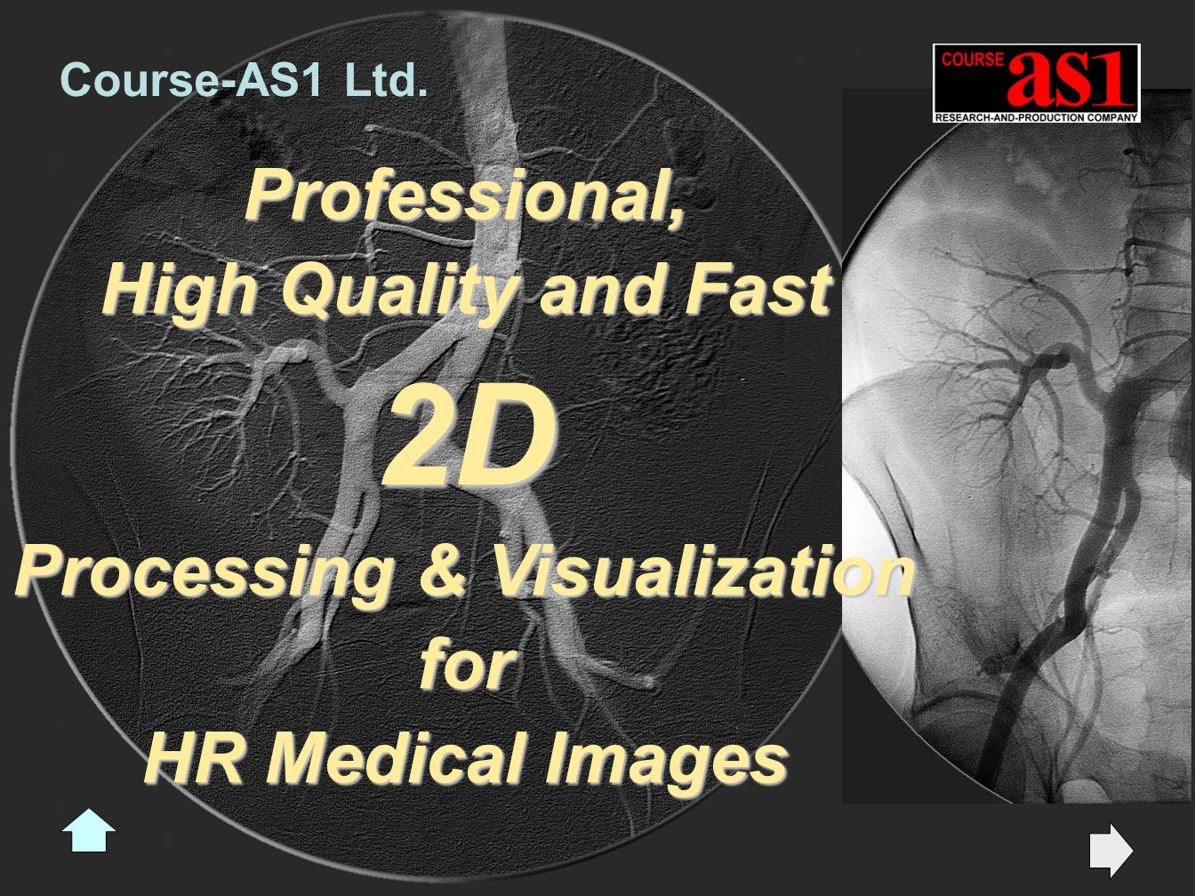 Professional, High Quality and Fast 2D Processing & Visualization for HR Medical Images Course-AS1 Ltd.