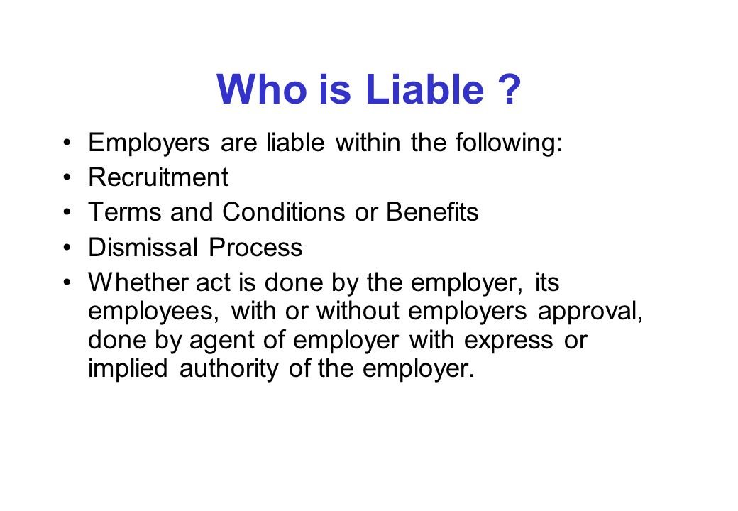 Who is Liable .