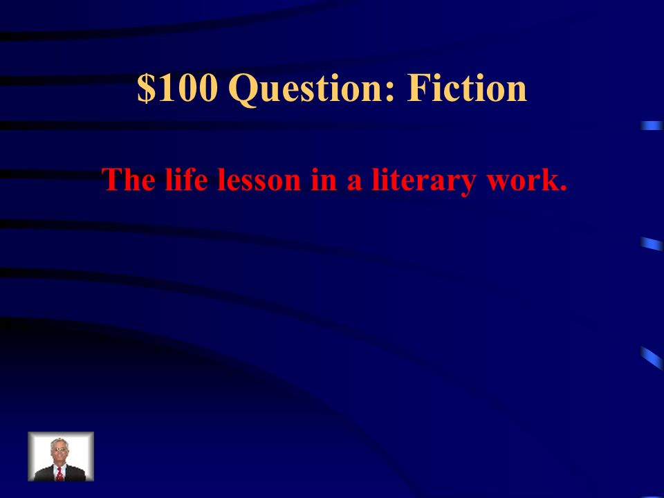 $500 Answer: Poetry Who is the speaker or narrator