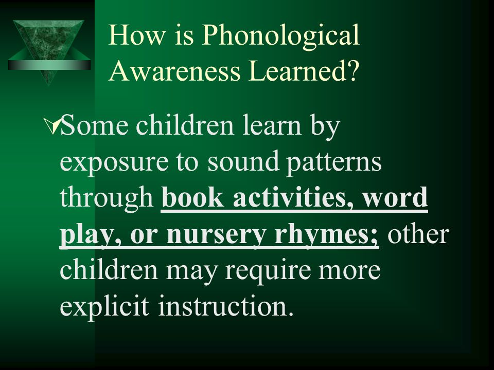 How is Phonological Awareness Learned.