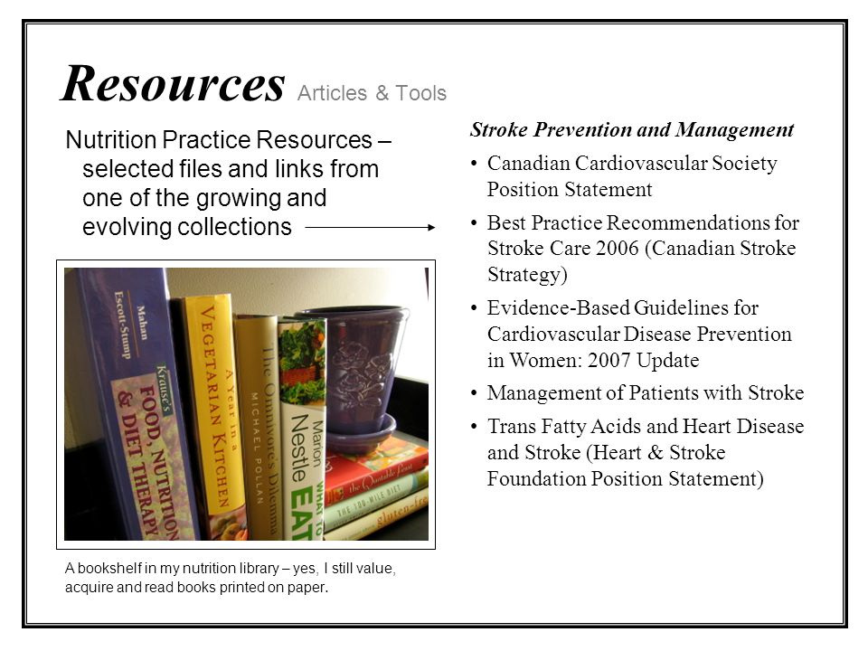 Resources Articles & Tools A bookshelf in my nutrition library – yes, I still value, acquire and read books printed on paper.