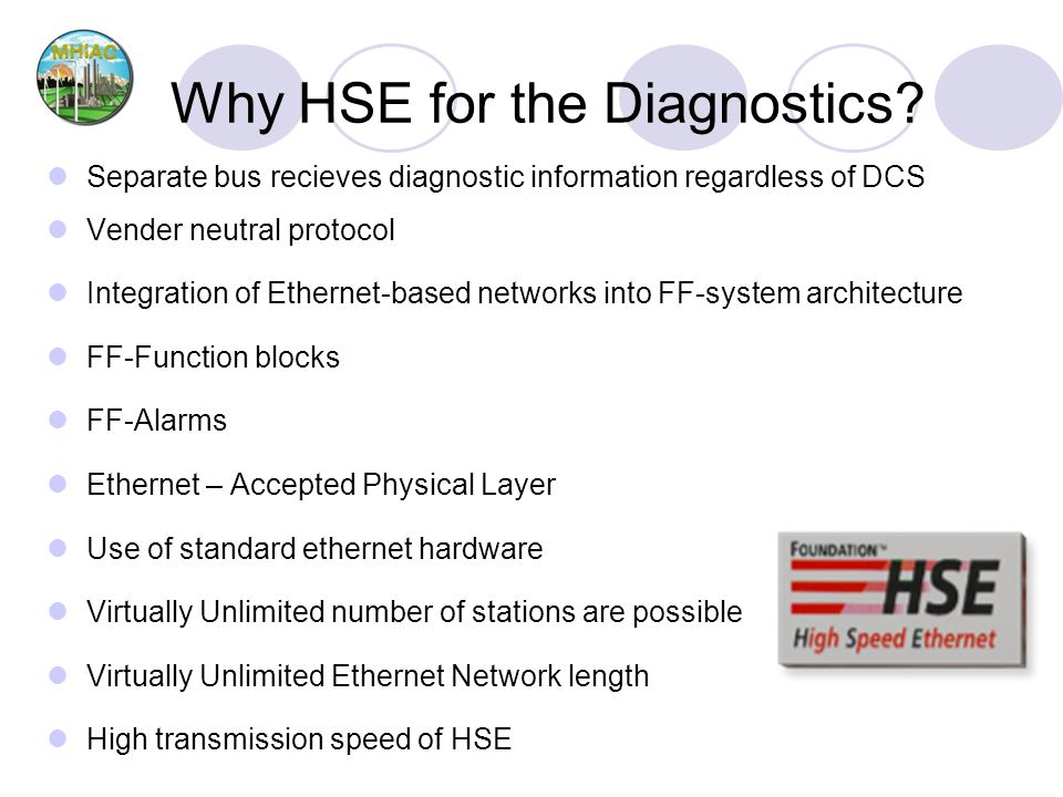 Why HSE for the Diagnostics.