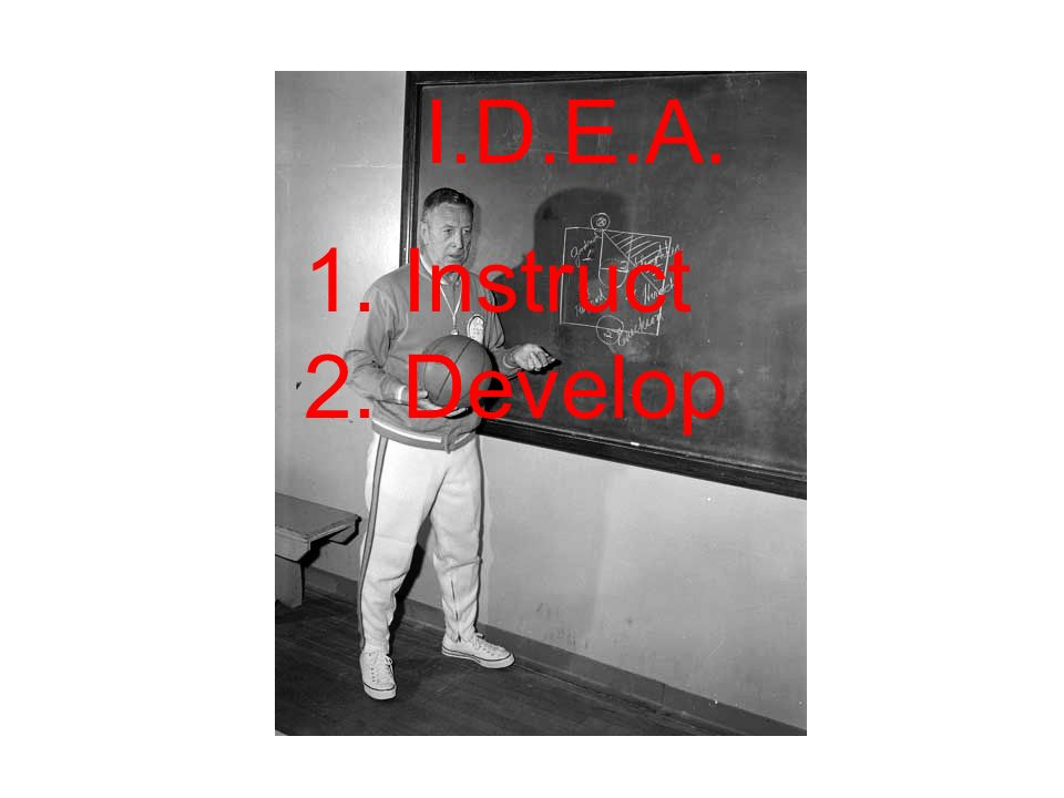 I.D.E.A. 1. Instruct 2. Develop