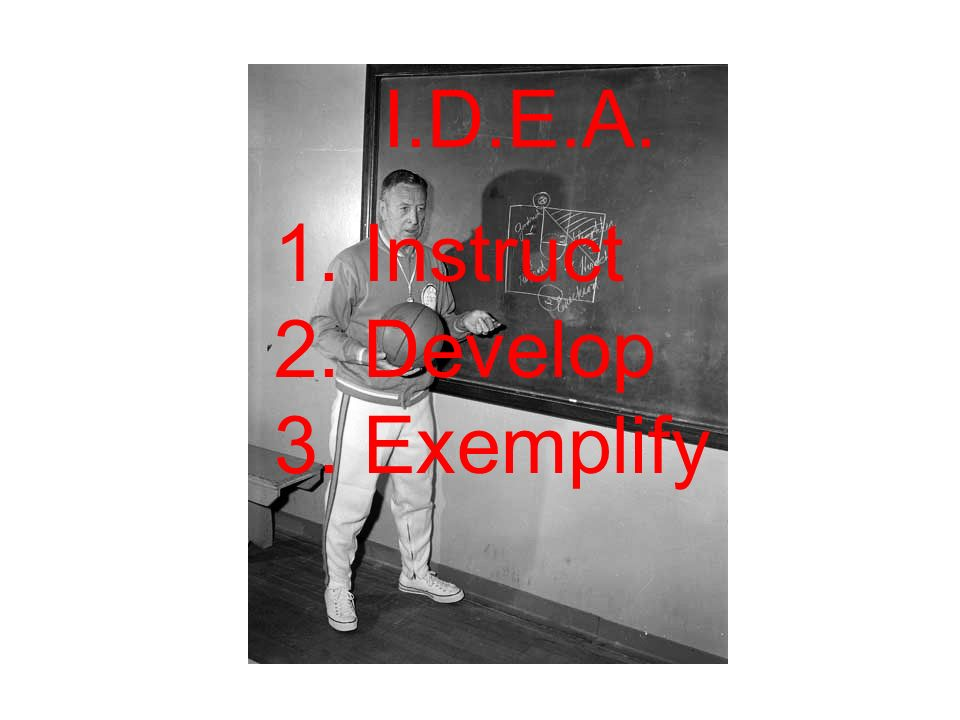 I.D.E.A. 1. Instruct 2. Develop 3. Exemplify