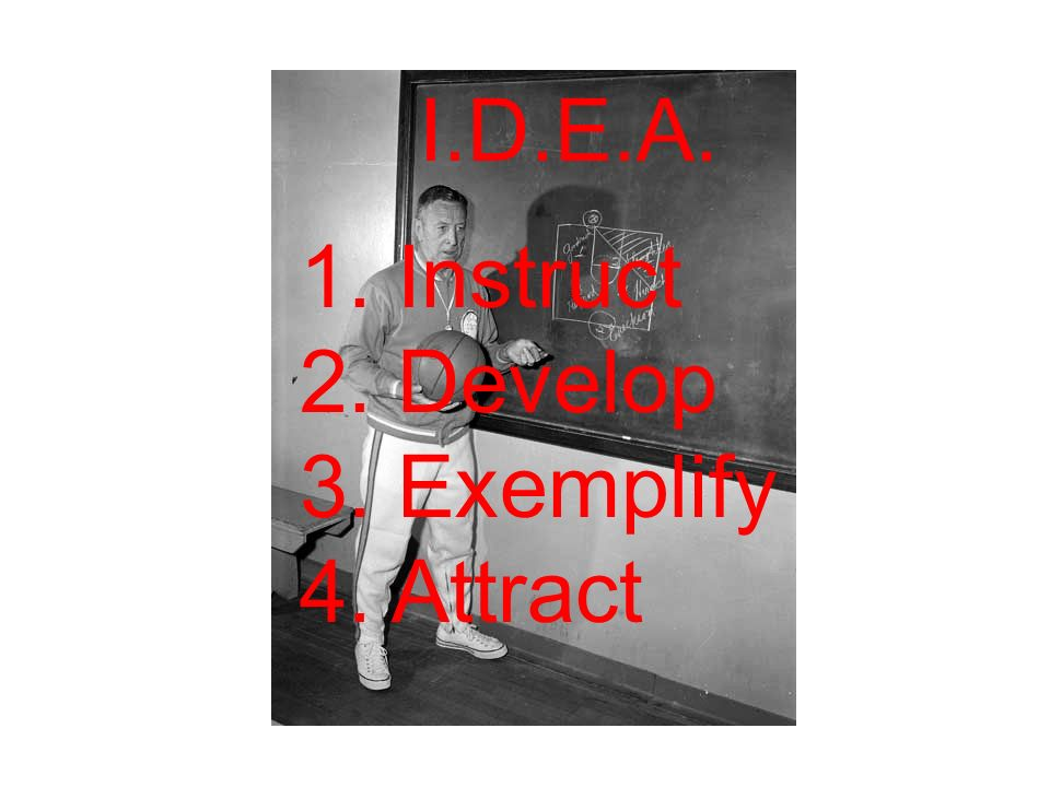 I.D.E.A. 1. Instruct 2. Develop 3. Exemplify 4. Attract