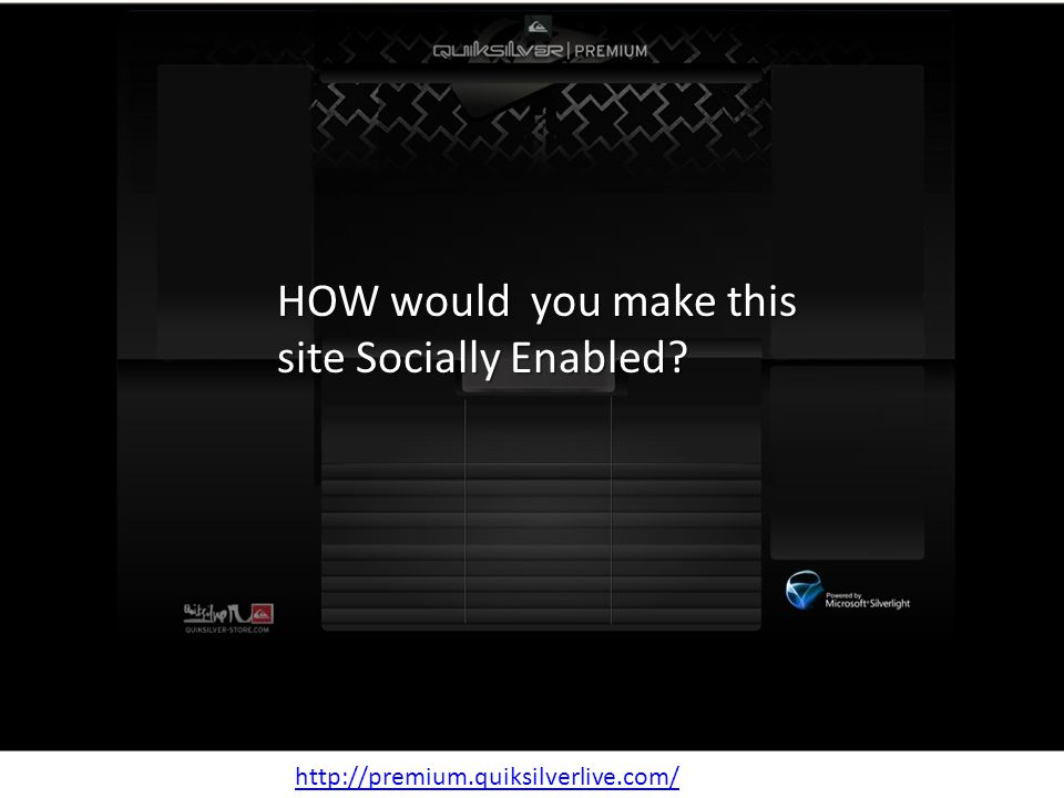 APIs slide   HOW would you make this site Socially Enabled