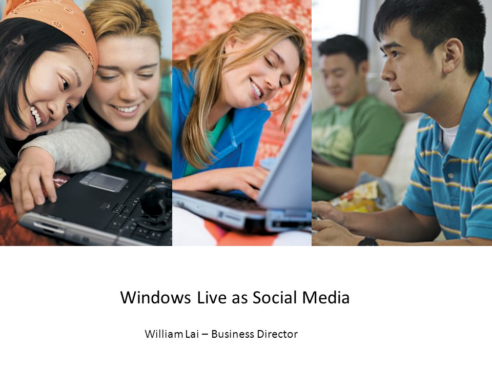 Windows Live as Social Media William Lai – Business Director