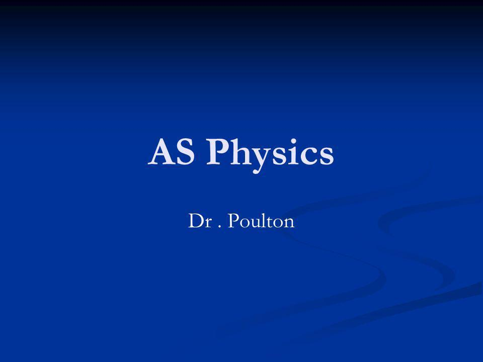 AS Physics Dr. Poulton