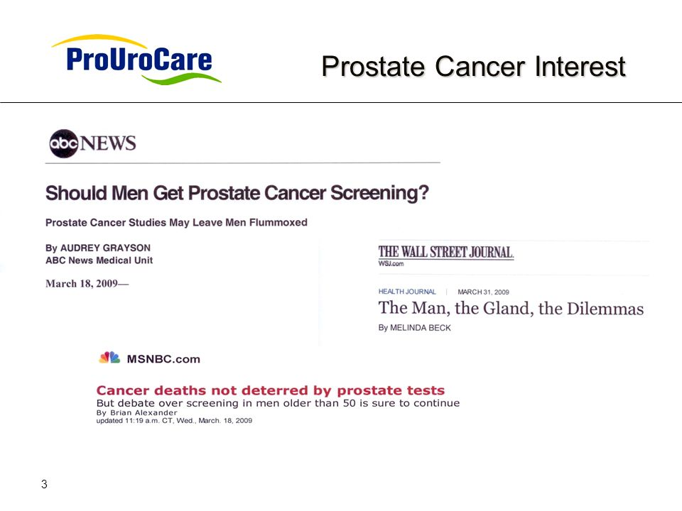 3 Prostate Cancer Interest Prostate Cancer Interest