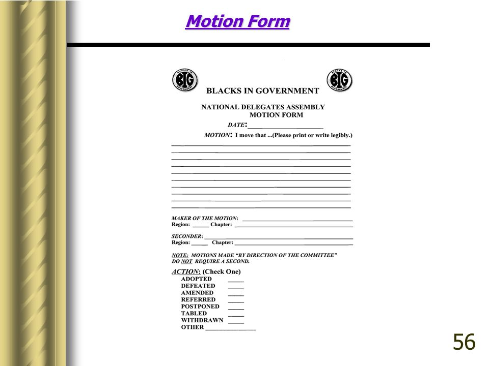 Motion Form 56