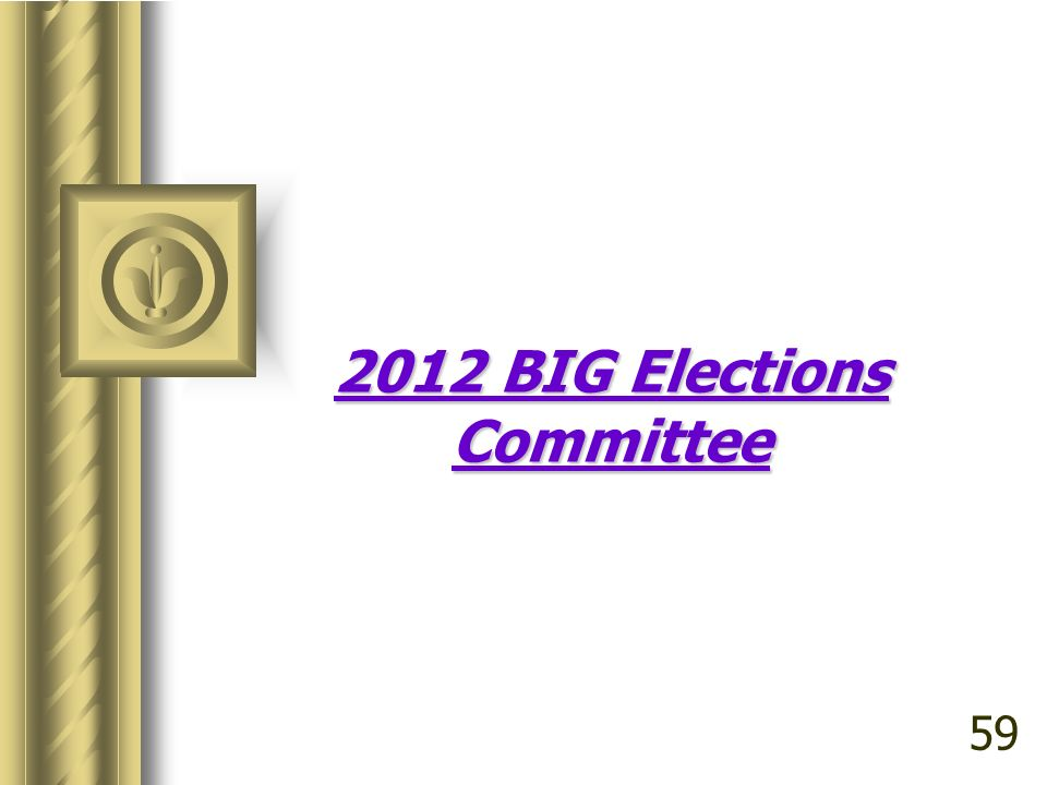 2012 BIG Elections Committee 59
