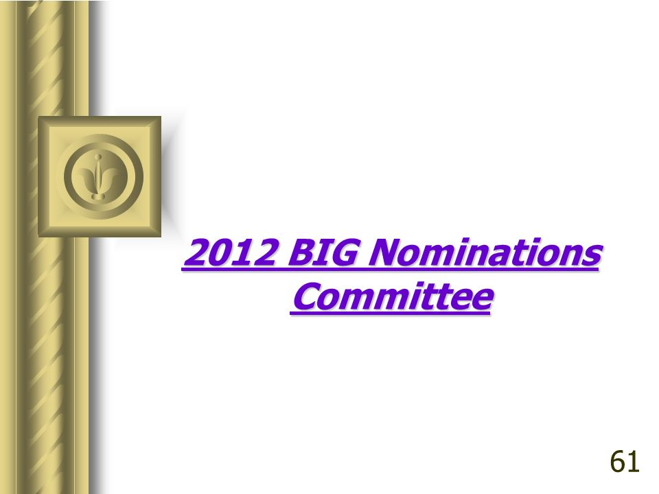 2012 BIG Nominations Committee 61