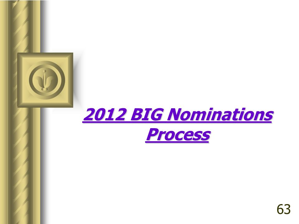 2012 BIG Nominations Process 63