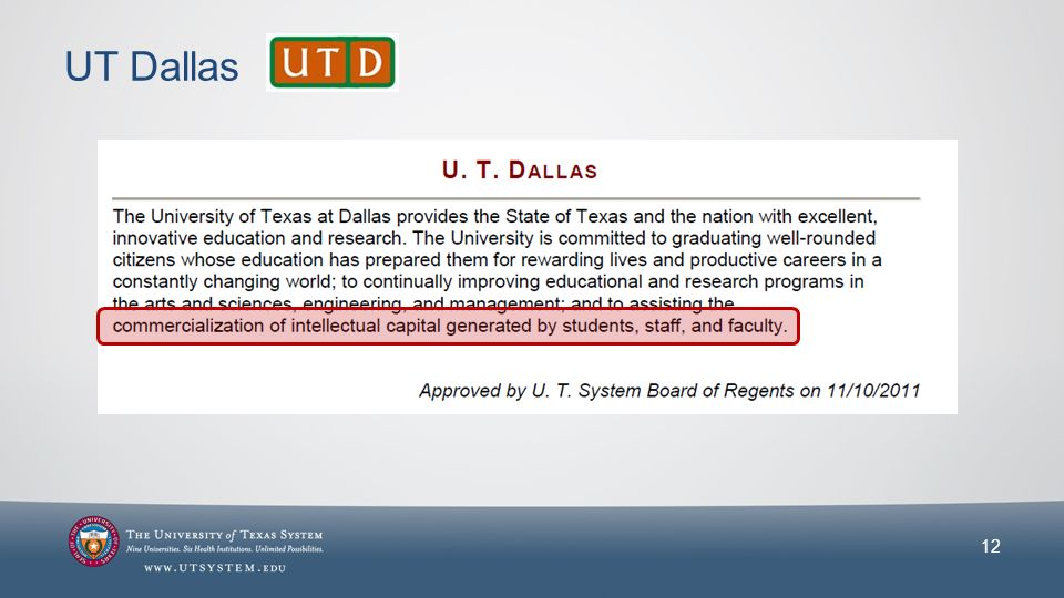 UT Dallas 12