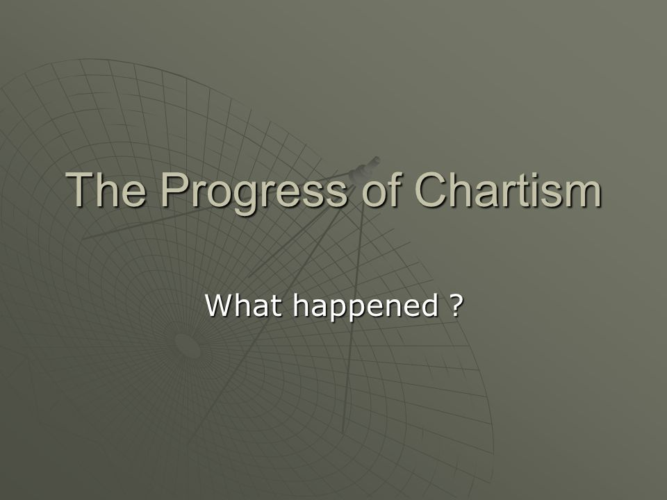 The Progress of Chartism What happened