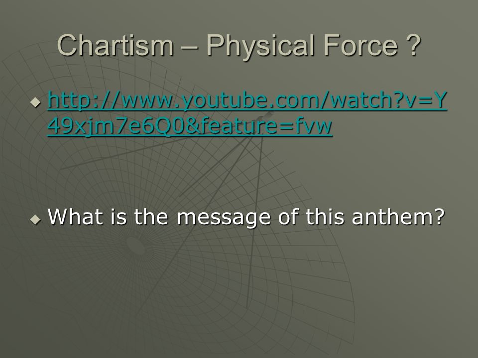 Chartism – Physical Force .