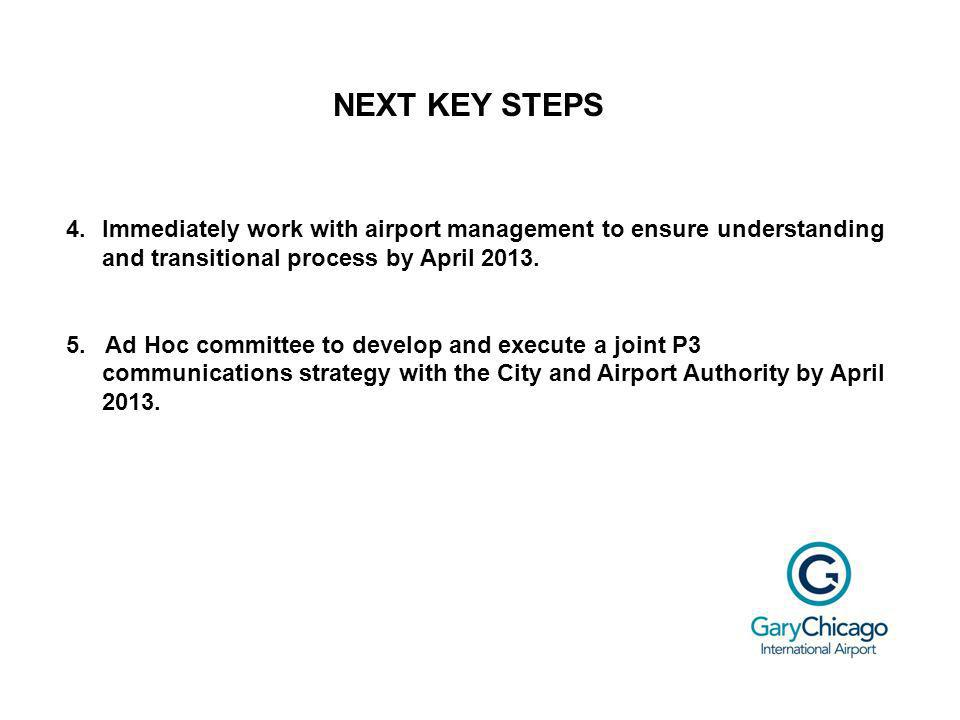 NEXT KEY STEPS 4.