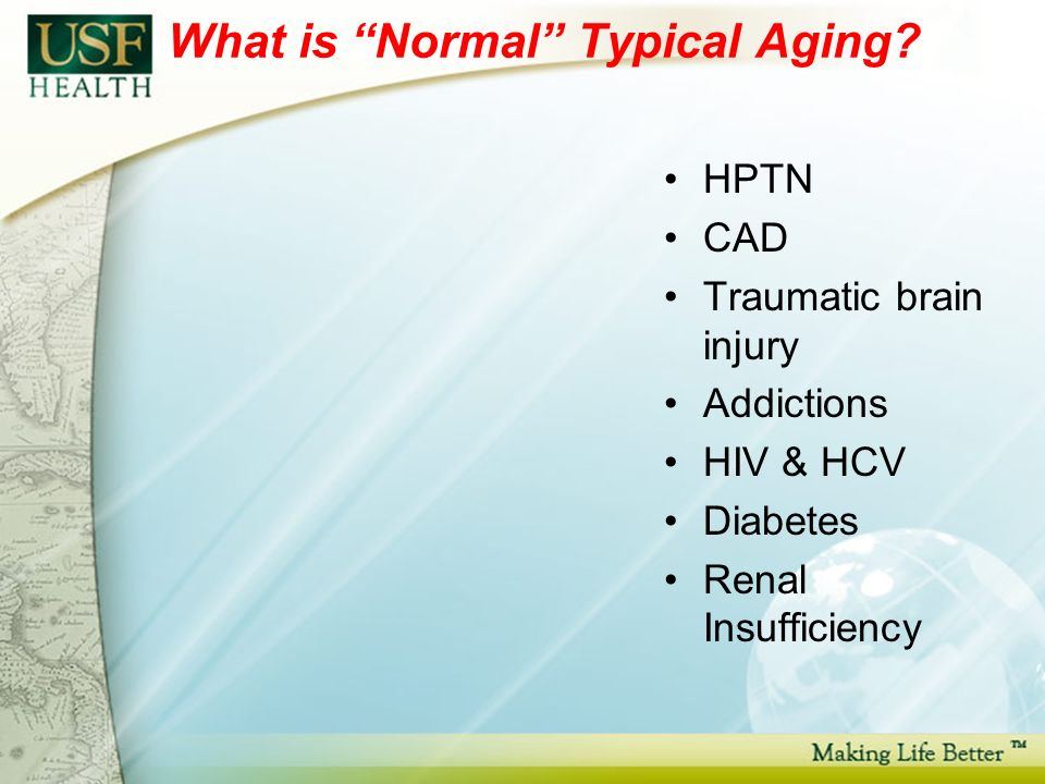 What is Normal Typical Aging.