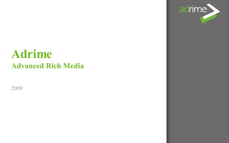 Adrime Advanced Rich Media 2009