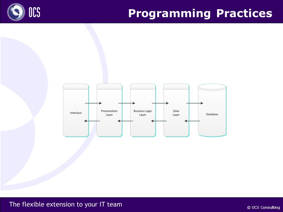 Programming Practices © OCS Consulting