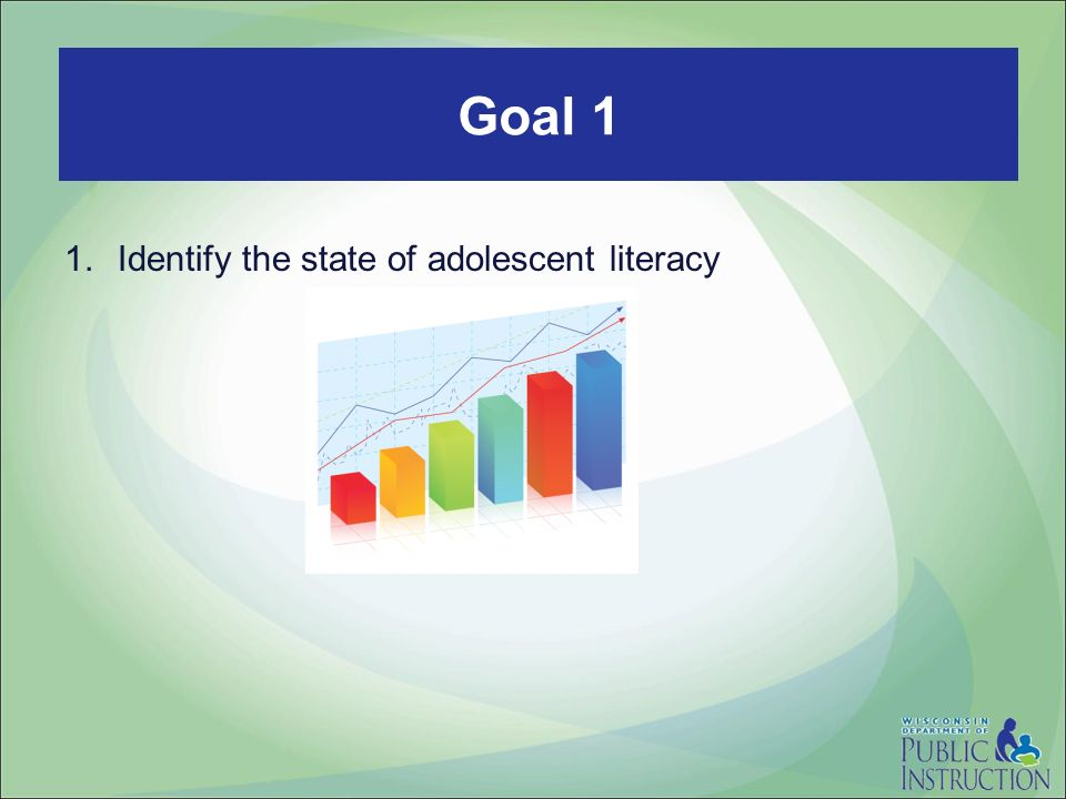 Read to Lead 1.Identify the state of adolescent literacy Goal 1
