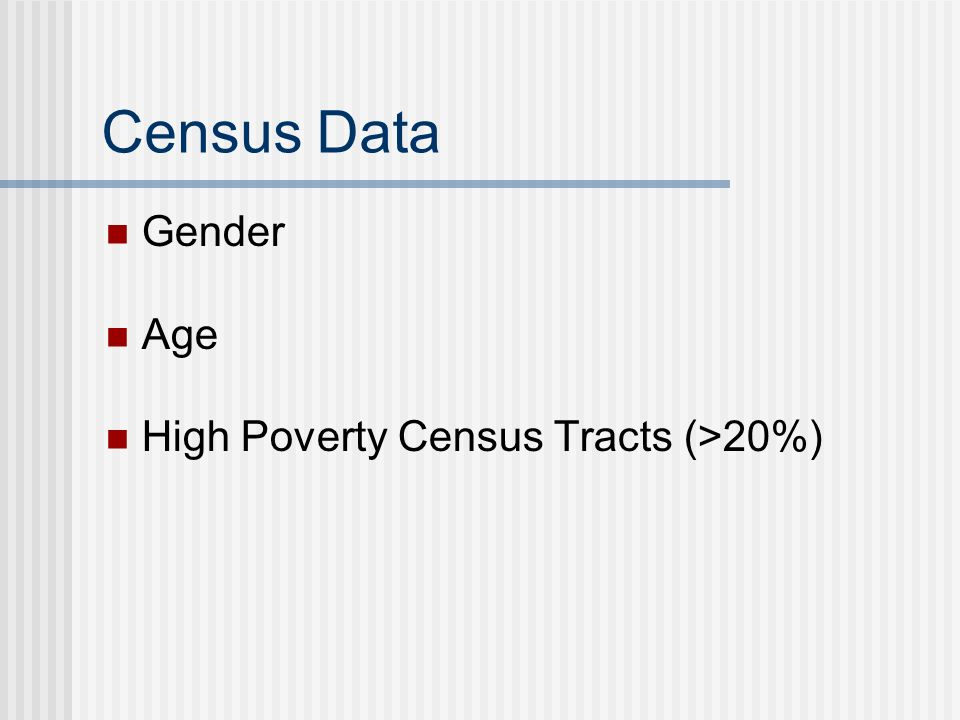 Census Data Gender Age High Poverty Census Tracts (>20%)
