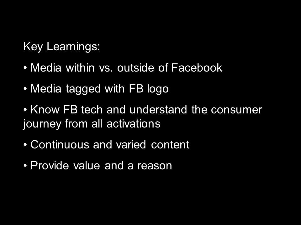 Key Learnings: Media within vs.
