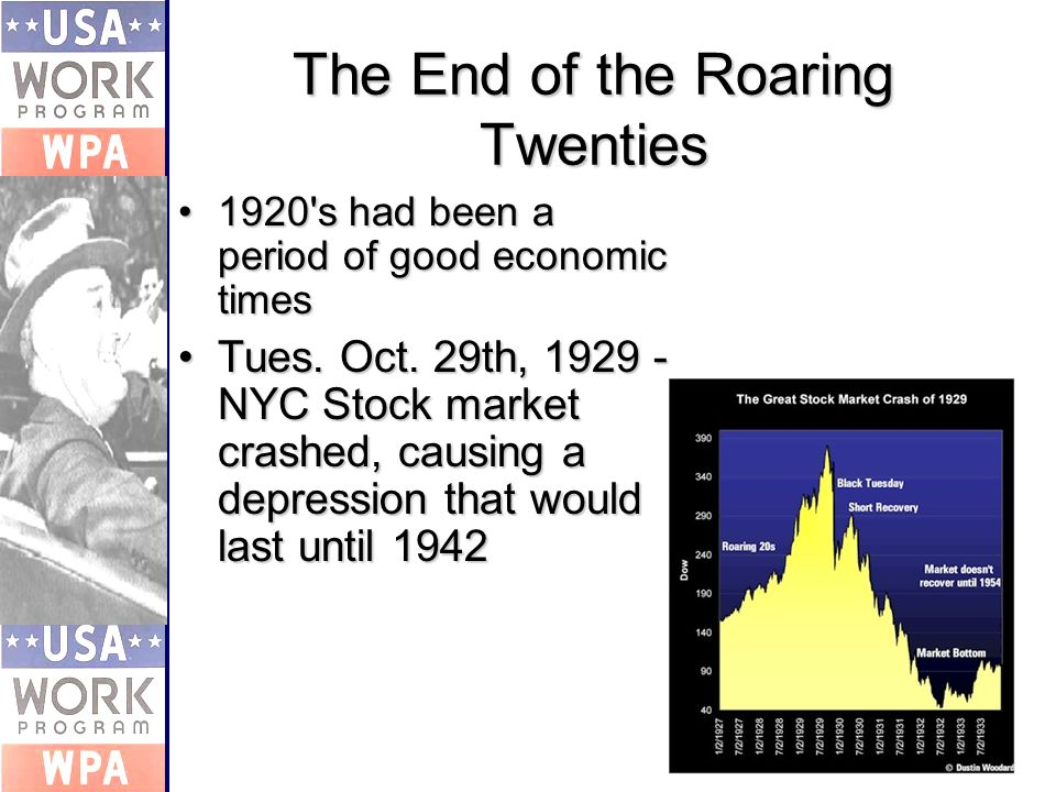 The End of the Roaring Twenties 1920 s had been a period of good economic times1920 s had been a period of good economic times Tues.