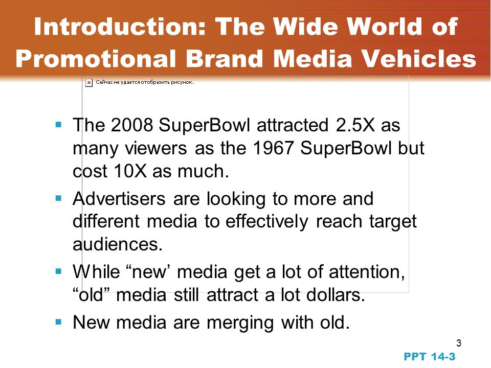 2 PPT 14-2 The Transition to Part 4: Placing the Message in Conventional and New Media Starting to study the placement phase of advertising and IBP Focus is on using media and IBP tools that reach the target audience.