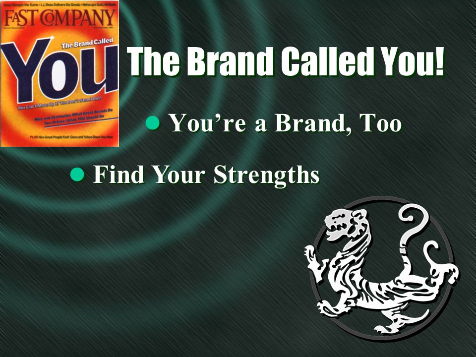The Brand Called You! l Youre a Brand, Too l Find Your Strengths
