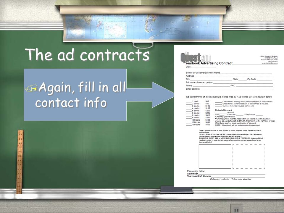 The ad contracts / Pay now or billed after issue is out.