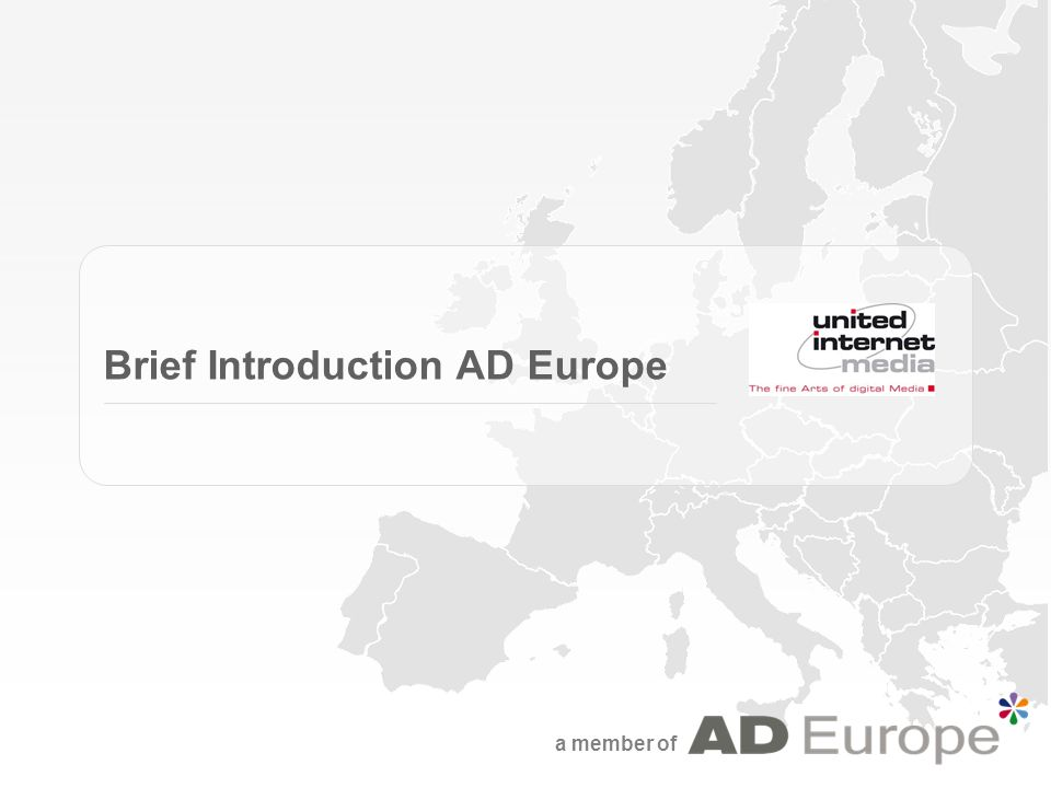 a member of Brief Introduction AD Europe