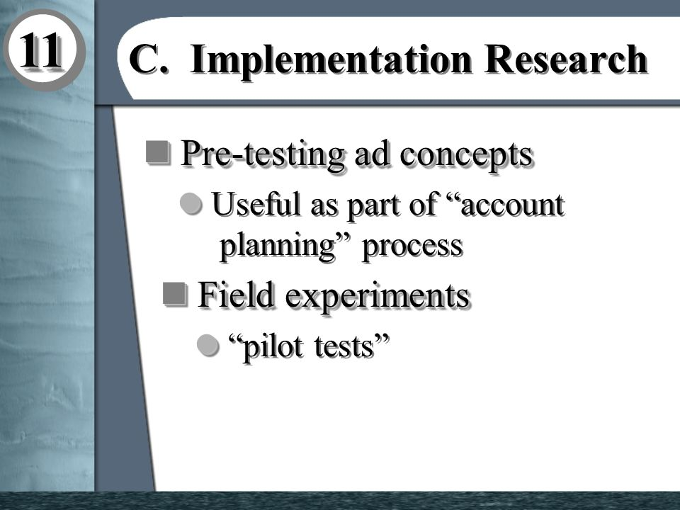 1111 C. Implementation Research C.