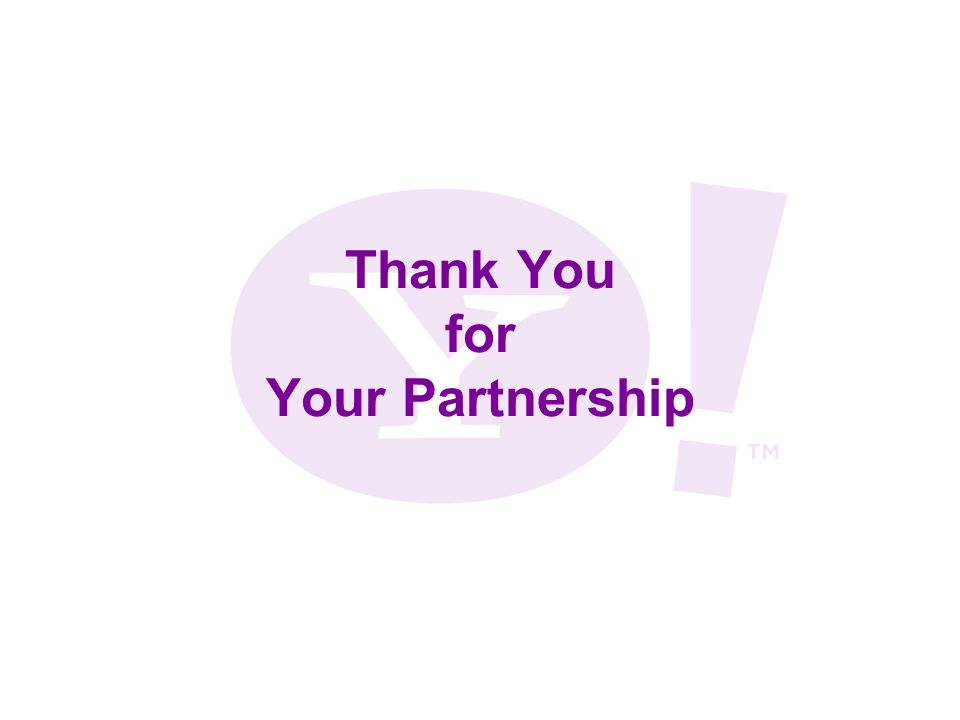 Thank You for Your Partnership