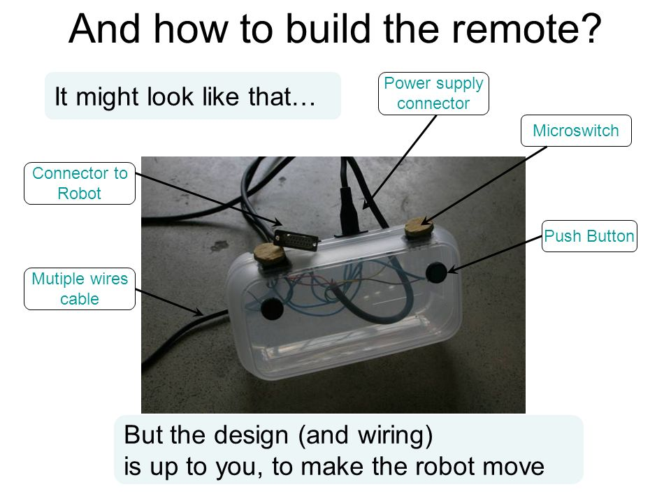 And how to build the remote.